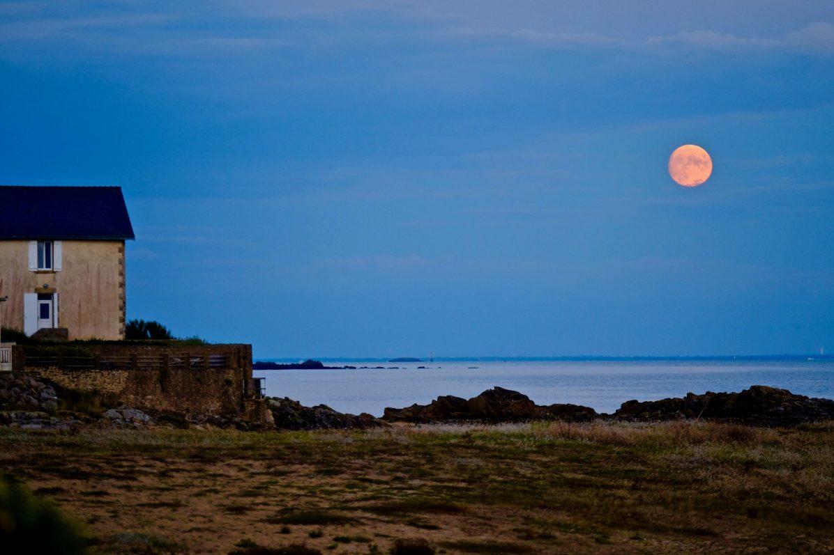 Un superbe lever de lune