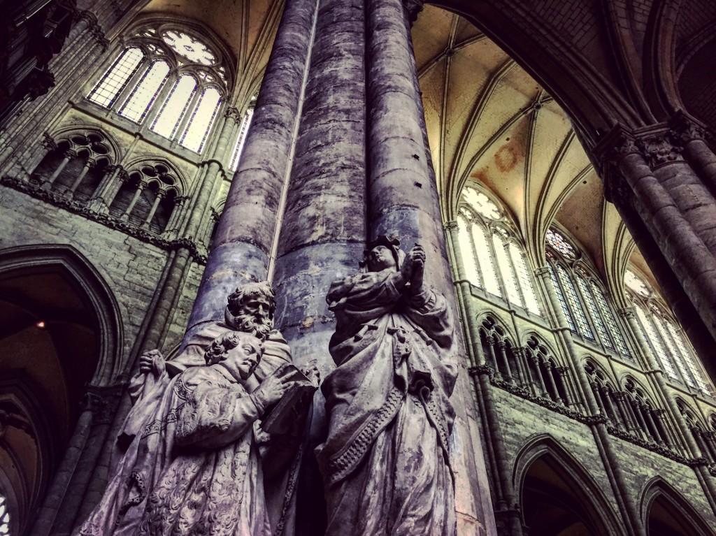 La nef de la cathédrale d'Amiens