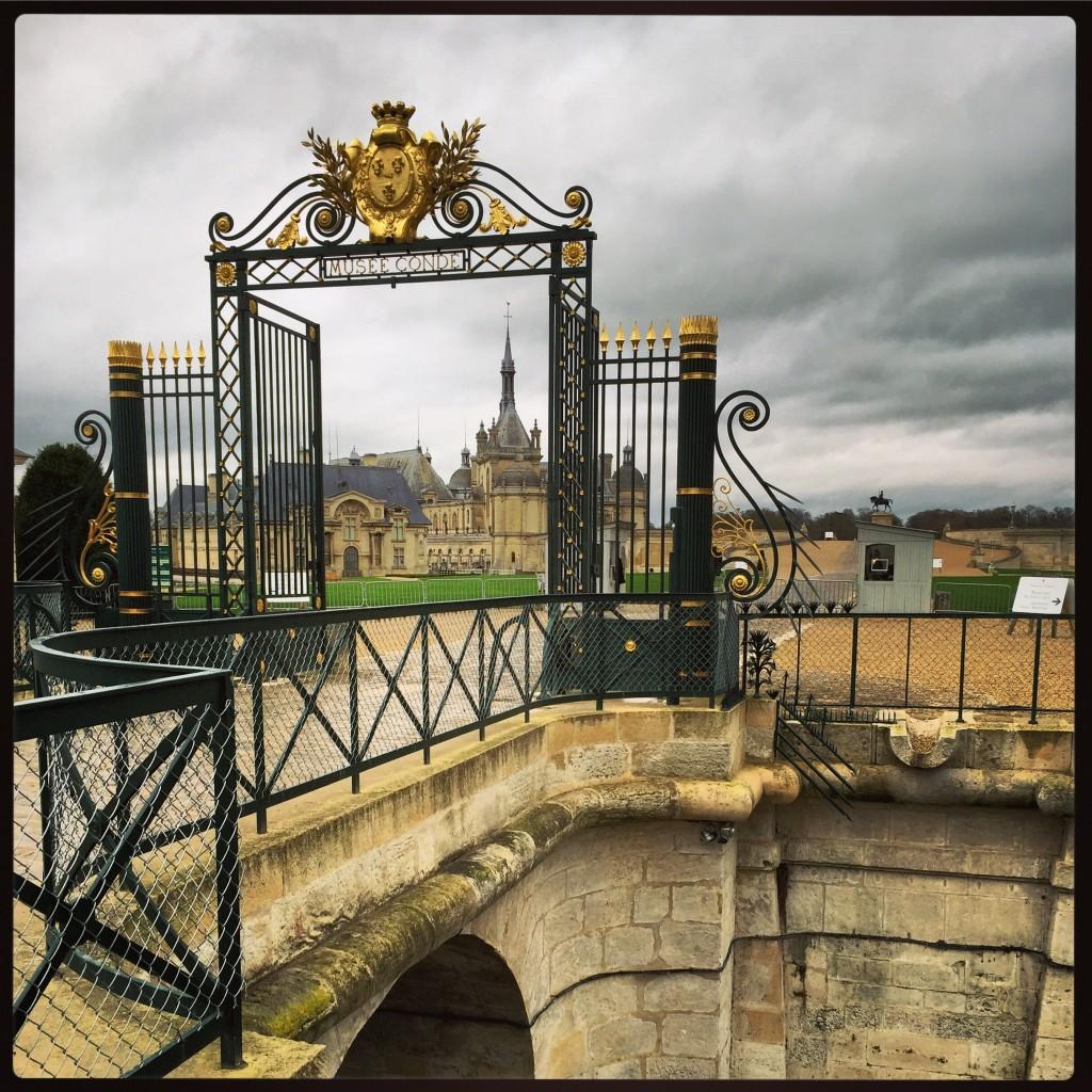 La grille du château de Chantilly