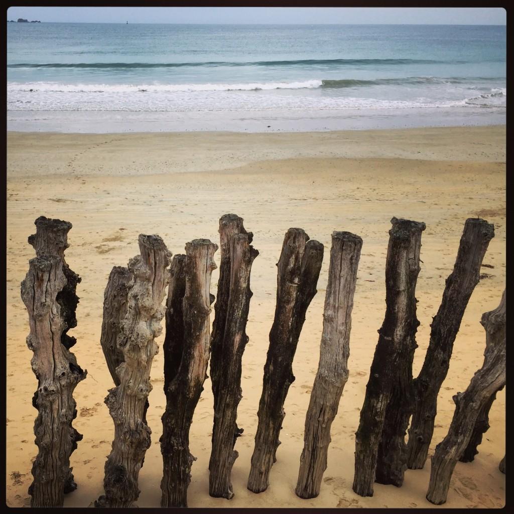 Les brises lames de la plage de Saint-Malo
