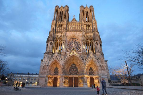 la cathédrale de Reims dans la Marne