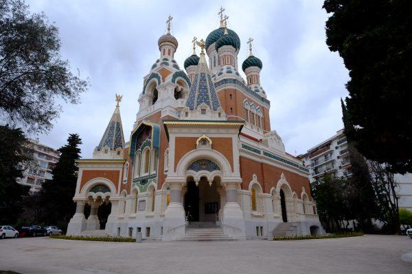 La cathédrale russe de Saint-Nicolas à Nice