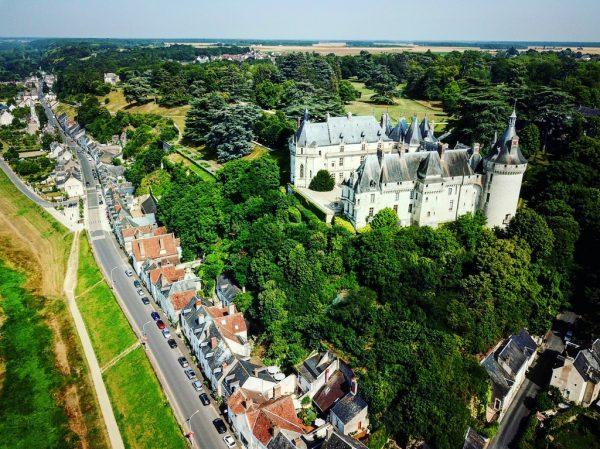 Le château de Chaumont vue du ciel