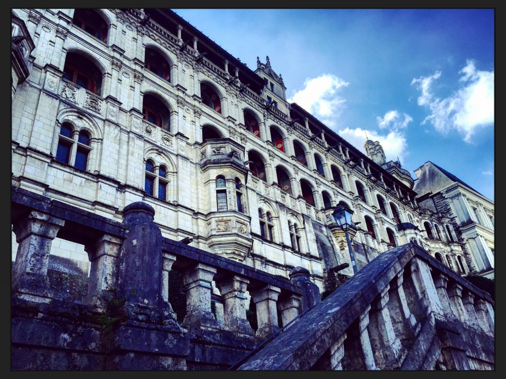 La façade du château de Blois