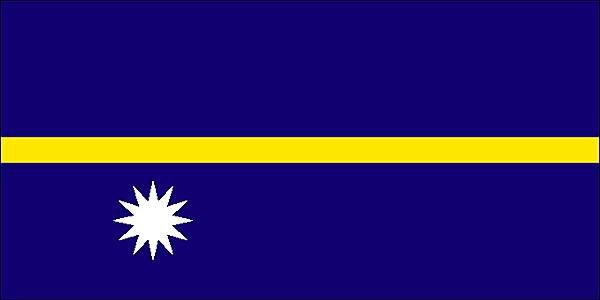 Le drapeau de l'île de Nauru