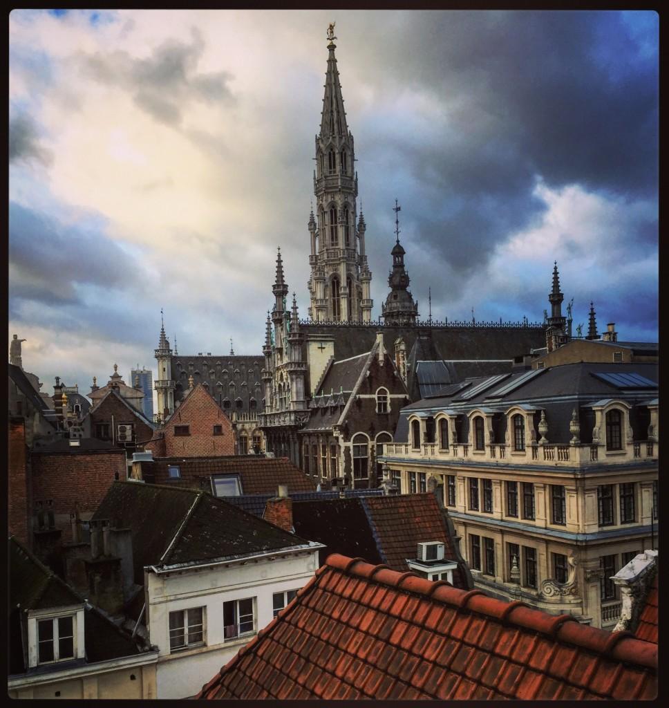 Bruxelles depuis la fenêtre de mon hôtel
