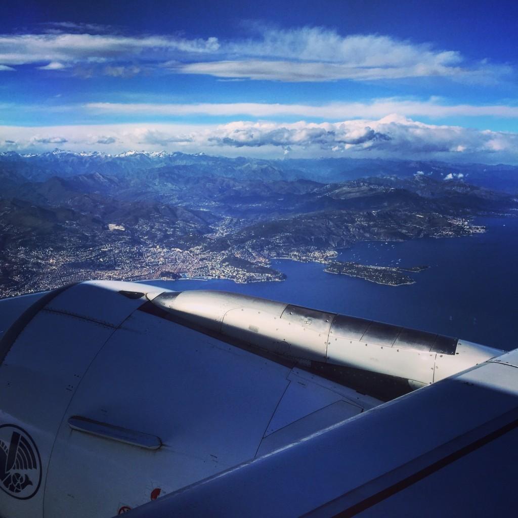 Au décollage depuis l'aéroport de Nice, mai 2016