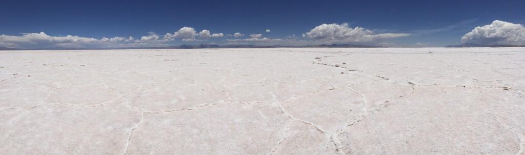 Panorama du désert blanc Argentin