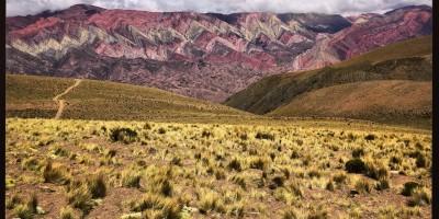 Un paysage fantastique dans les Andes en Argentine