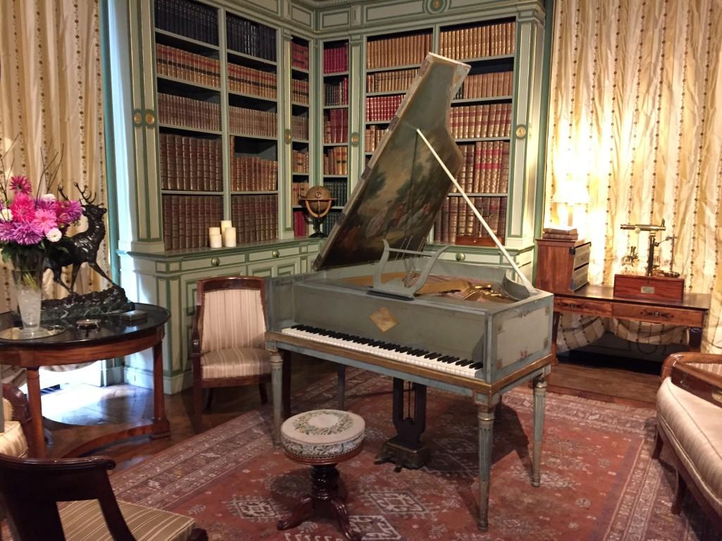 Le salon de musique du château de Cheverny