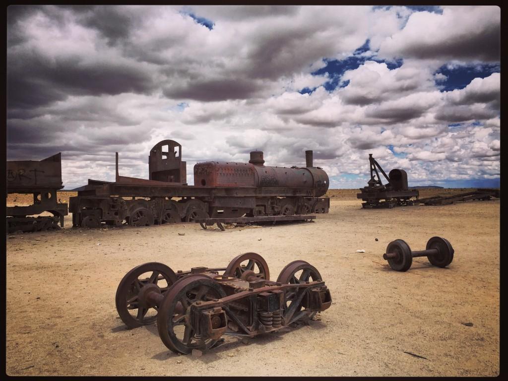 Le cimetière des trains de la ville d'Uyuni, Sud Lipez, Bolivie