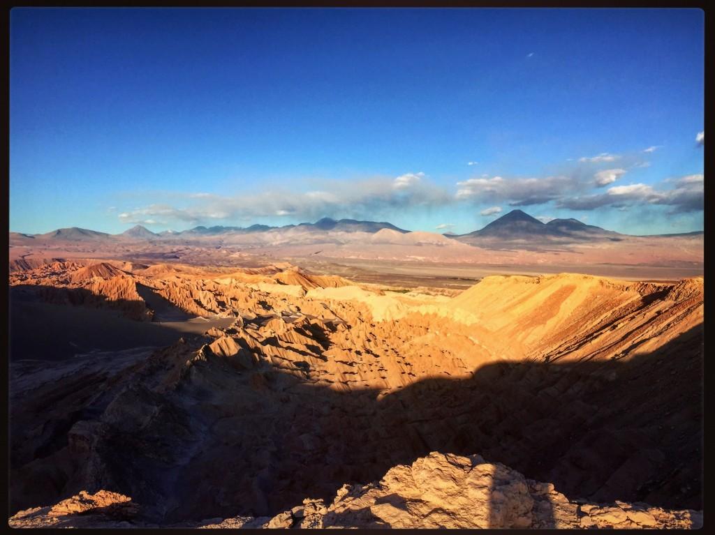 Fin de journée sur le désert d'Atacama
