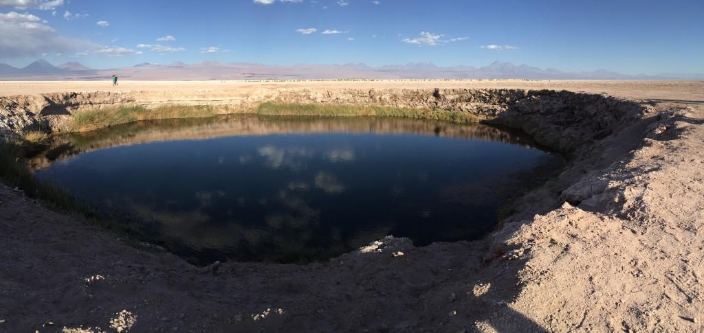 Los Ojos, salar de Atacama (l'un des 2 trous)