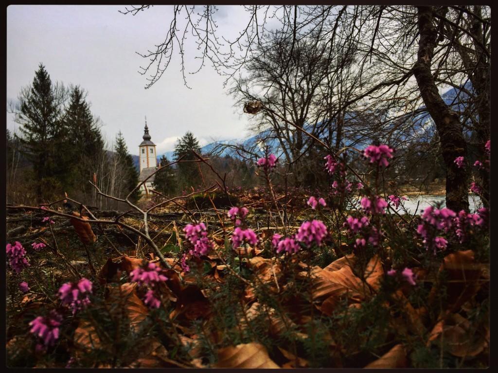 Une église perdue dans les montagnes slovènes