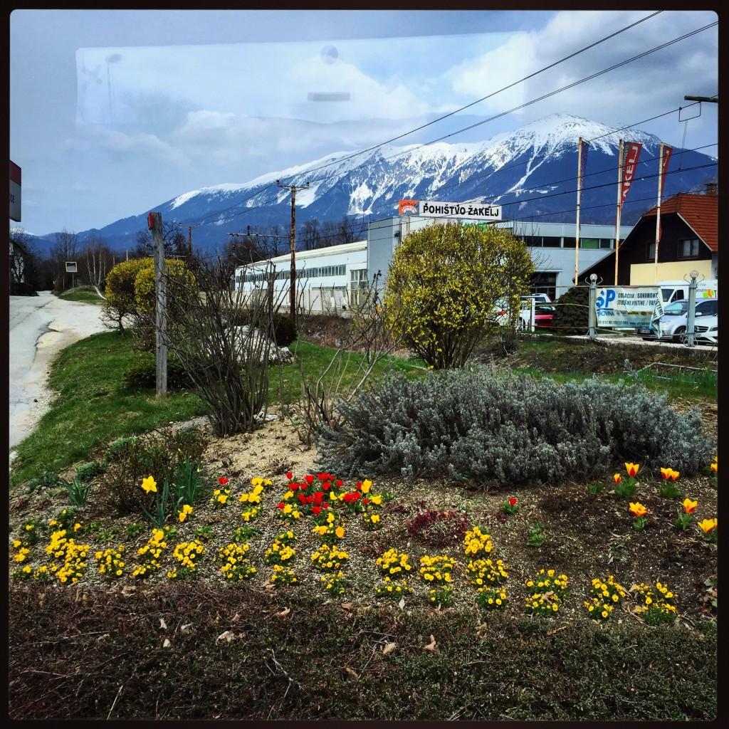 Slovénie sur la route des montagnes.