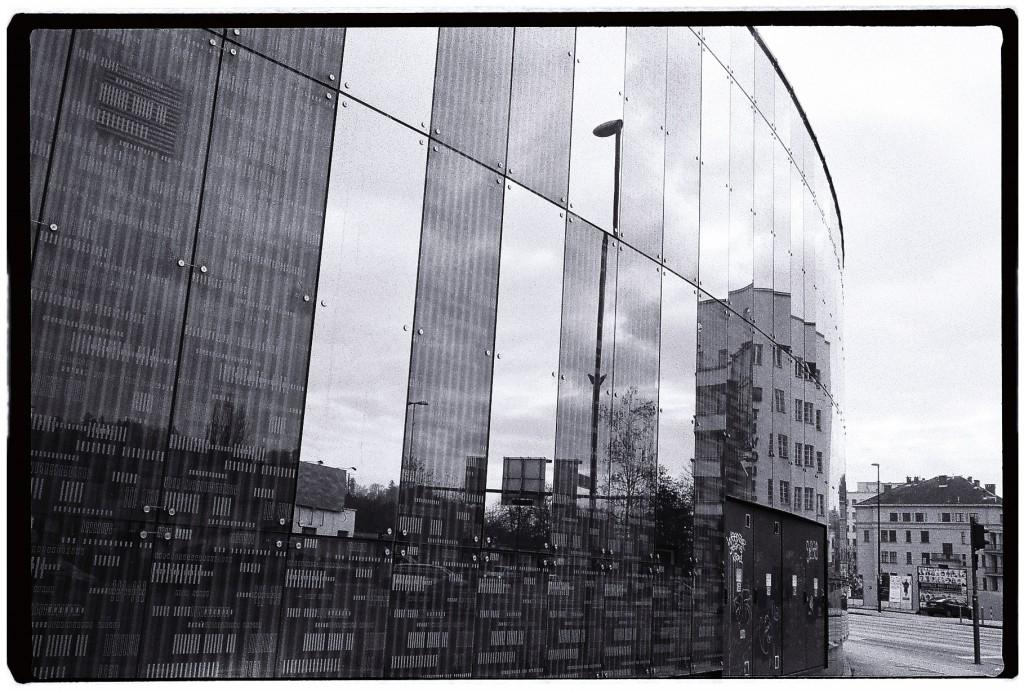 Reflets en noir et blanc à Ljubljana