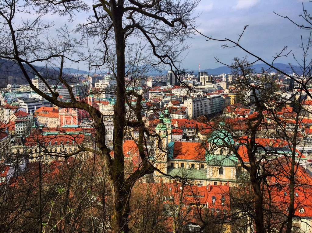 25. Vue depuis le château de Ljubljana