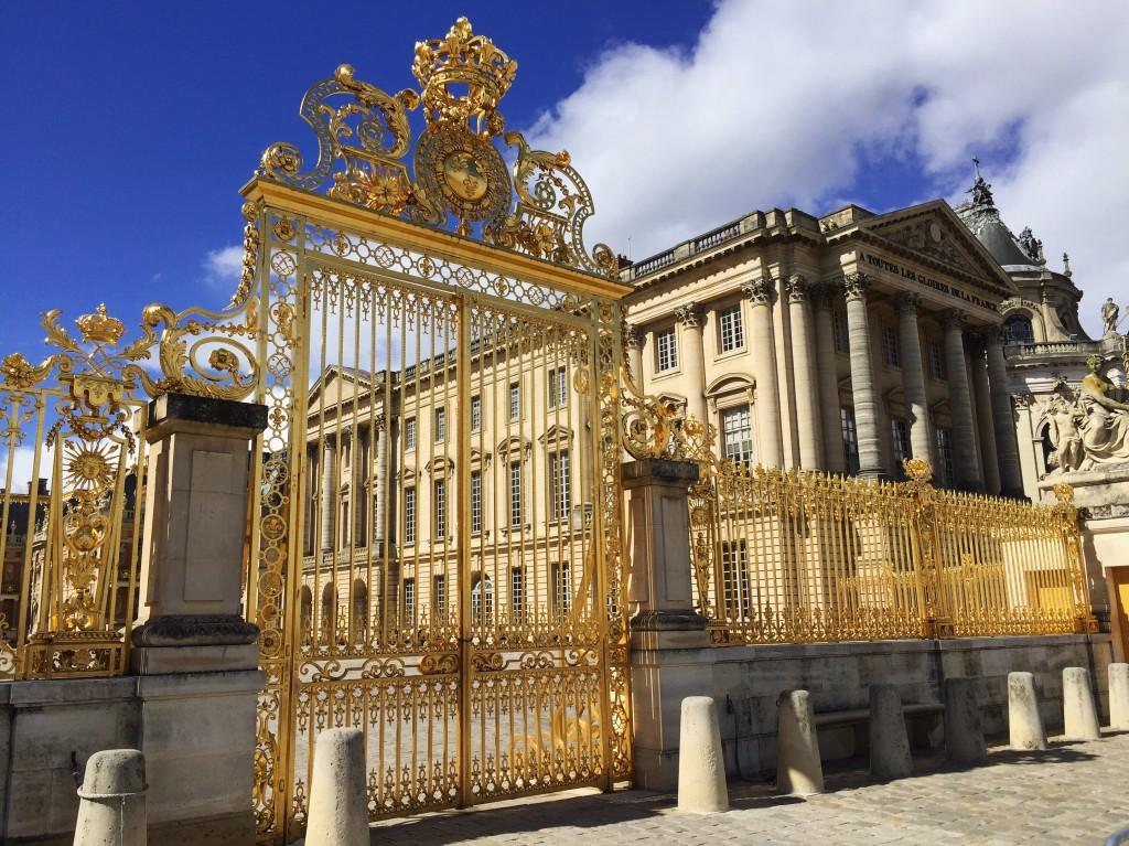 Les grilles du château de Versailles