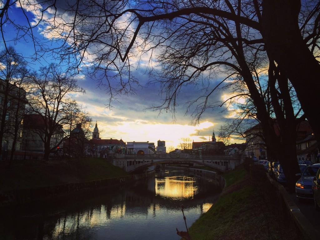48. Le crépuscule à Ljubljana