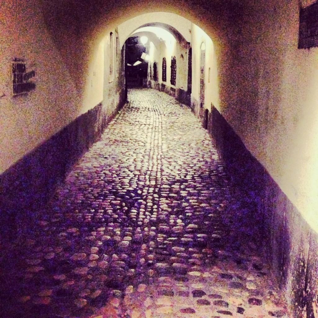 une ruelle la nuit en Slovénie