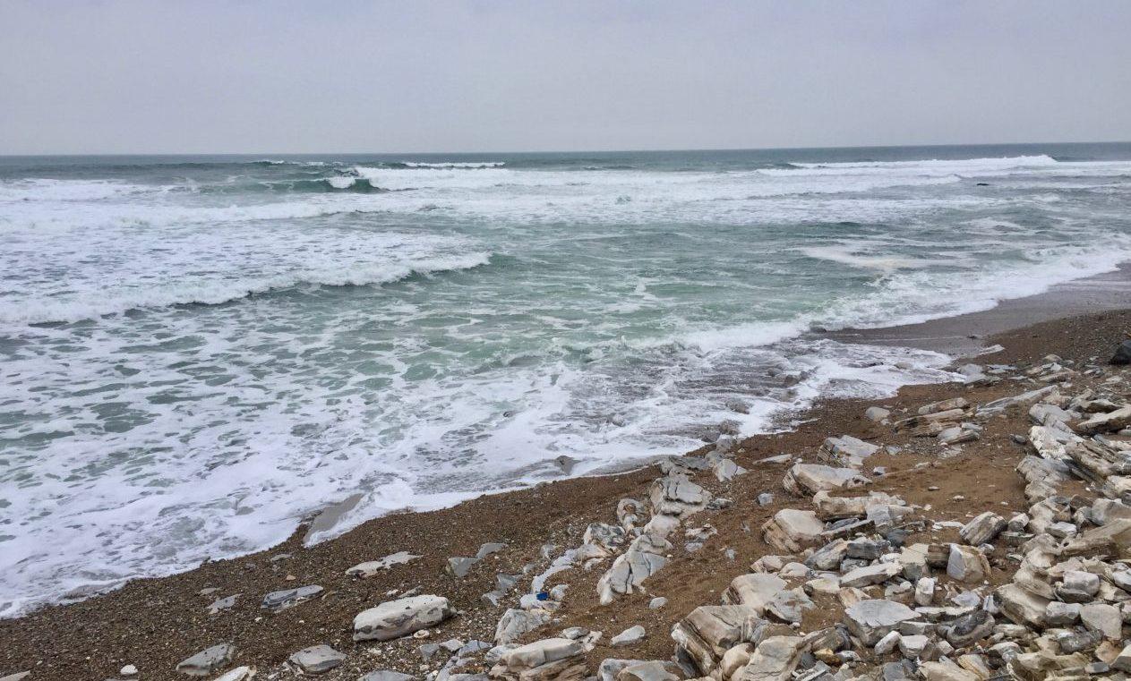 La vague de Cenitz en hiver