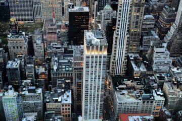 New York vue du ciel, la ville la plus influente du monde