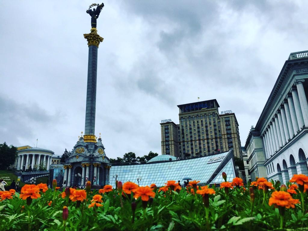 Place Maidan à Kiev. Toute la symbolique de la liberté.