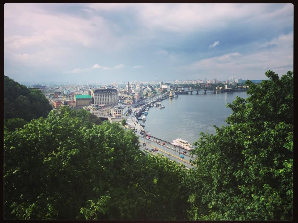 Panorama sur Kiev et sur le Dniepr