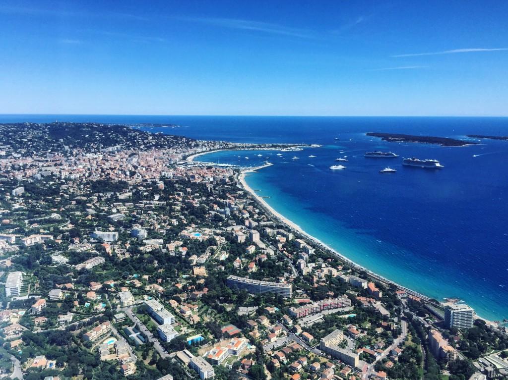La ville de Cannes vue du ciel