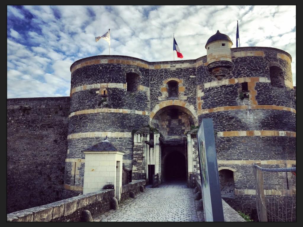 L'entrée du château d'Angers