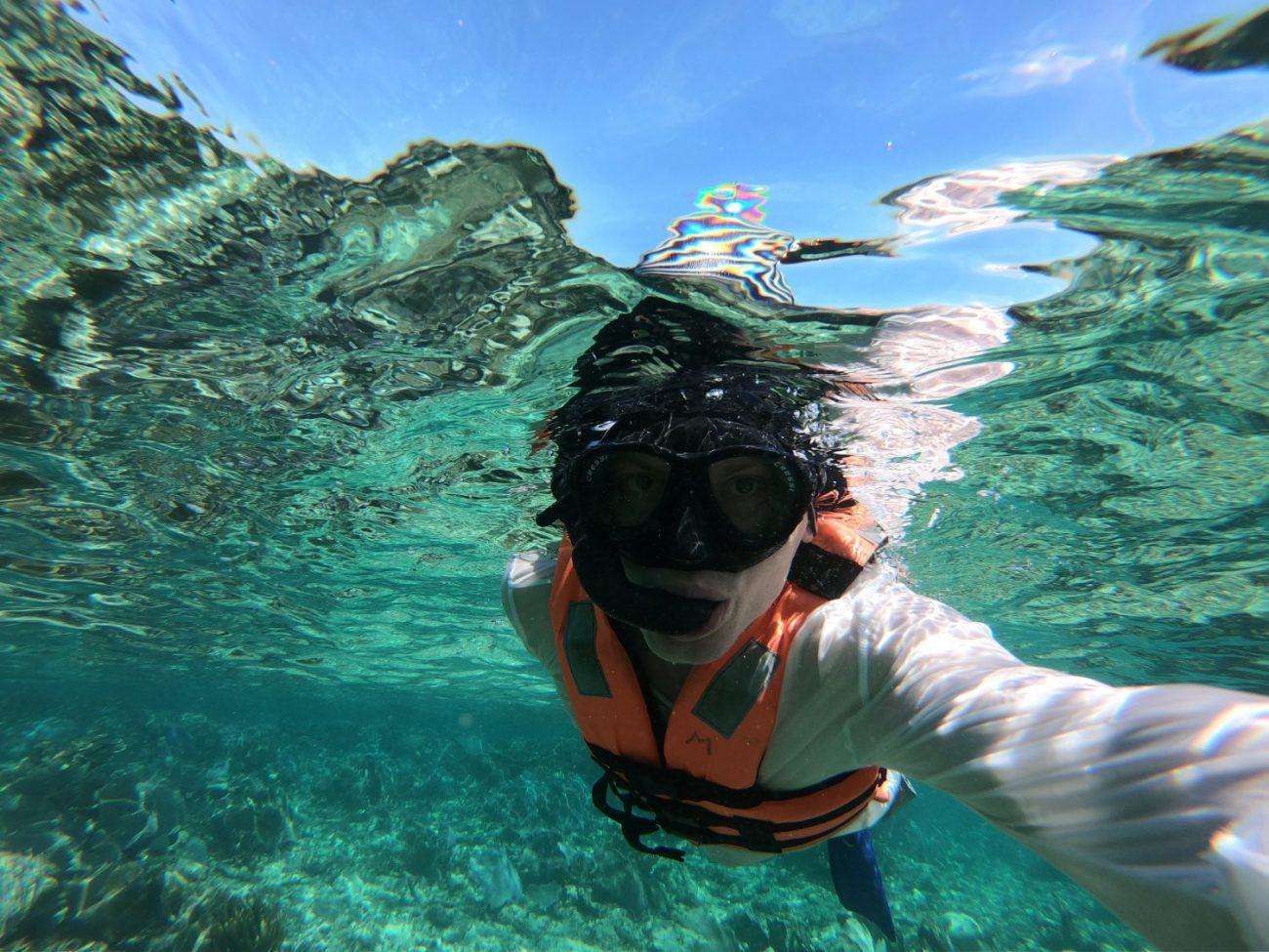 En plongée sur la barrière de corail du Yucatan