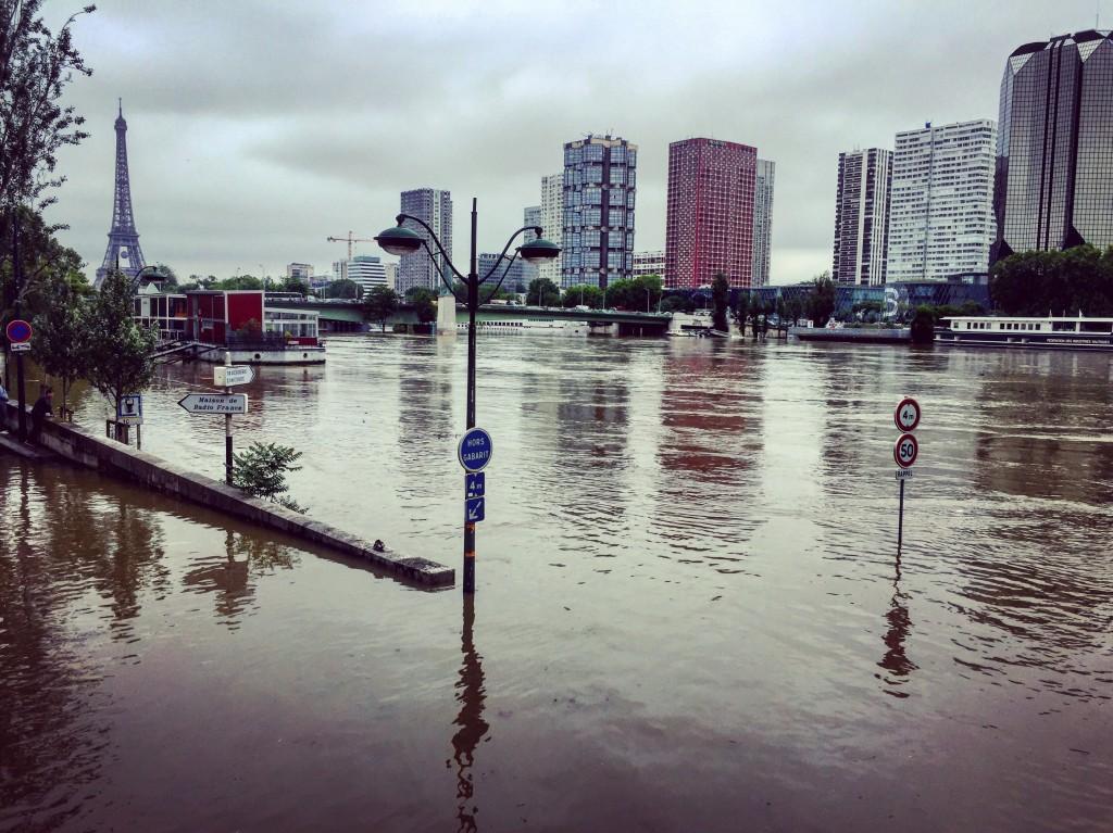 La Seine, Paris XVI ème, inondation.