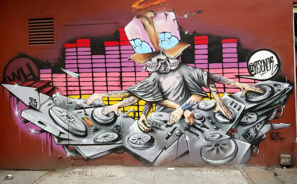 Art urbain, fresque à New York