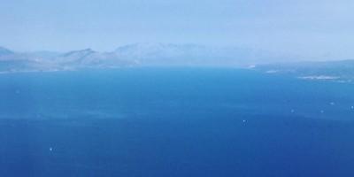 La mer Adriatique en plein été