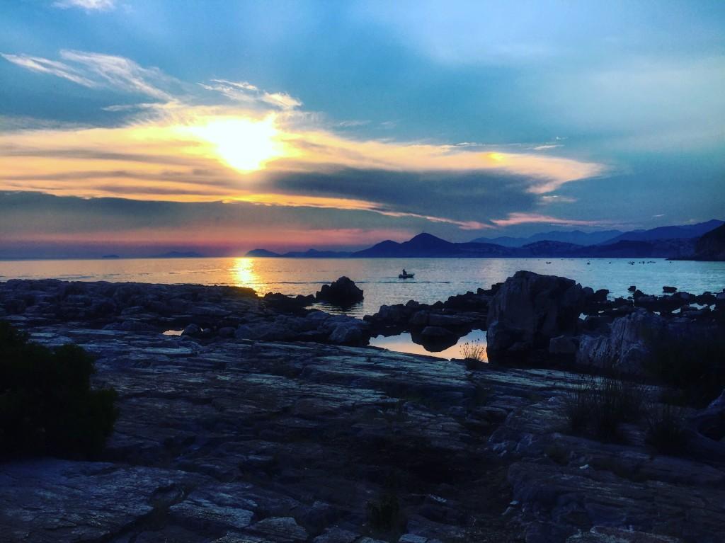 Coucher de soleil sur l'île de Lokrum