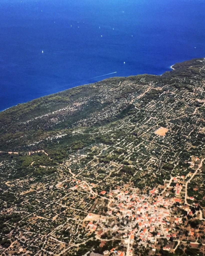 Un petit village Croate vu du ciel