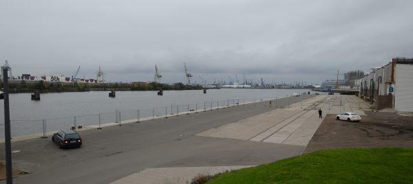 L'Elbe, l'un des plus grands fleuve d'Europe, à Hambourg