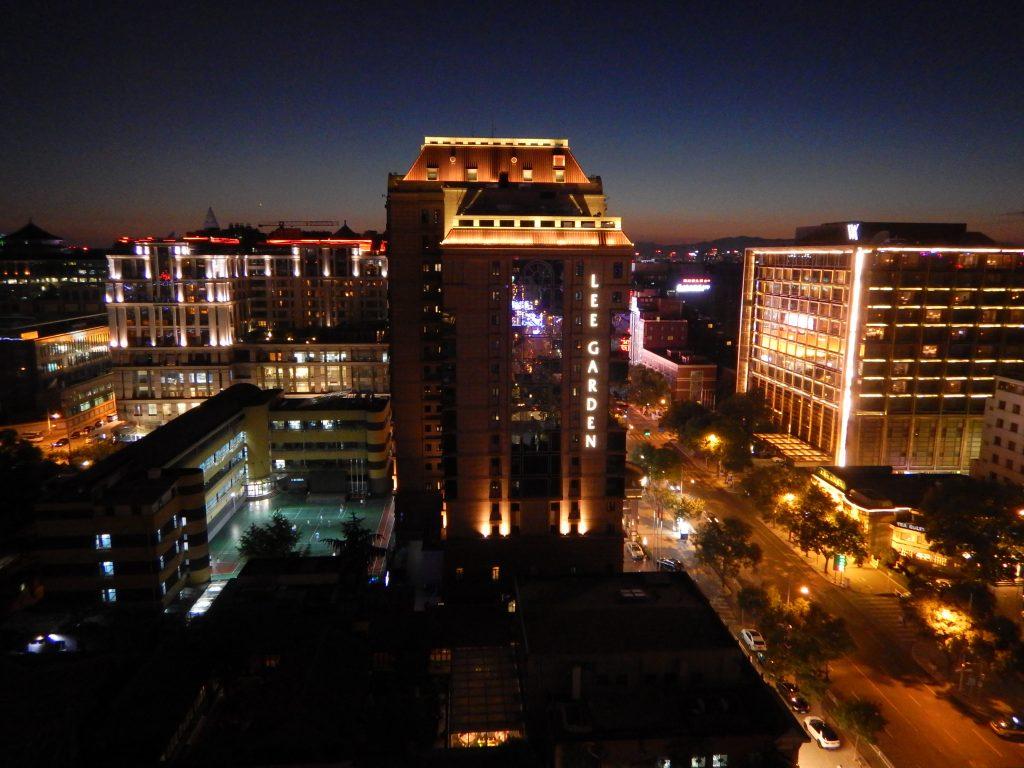Vue panoramique sur Pékin la nuit