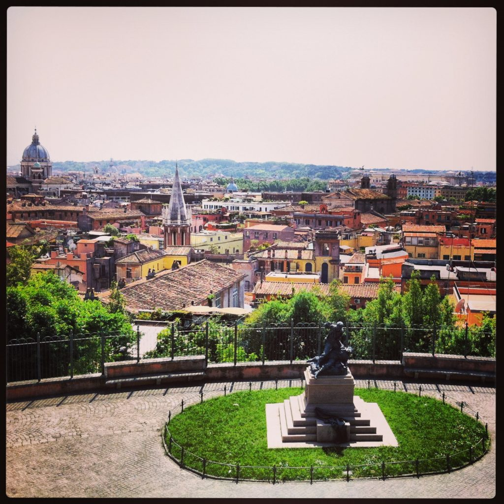 Vue sur Rome, une ville magnifique
