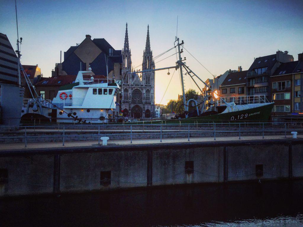 La belle cathédrale d'Ostende