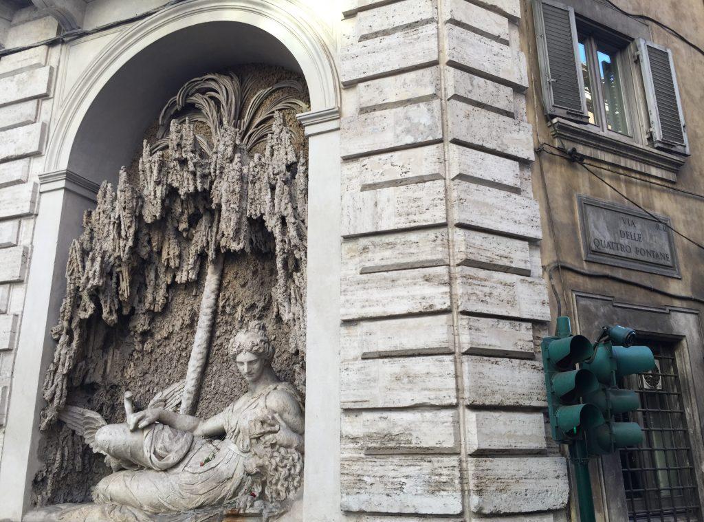 La place des 4 fontaines à Rome