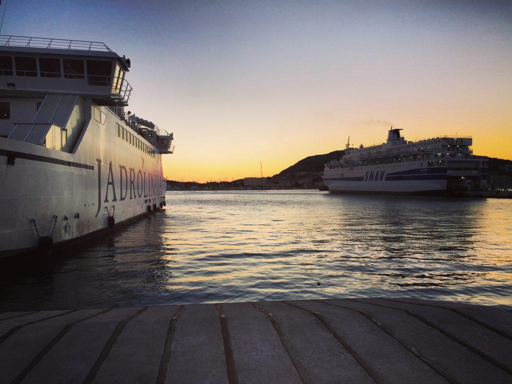 Le port de la ville de Split
