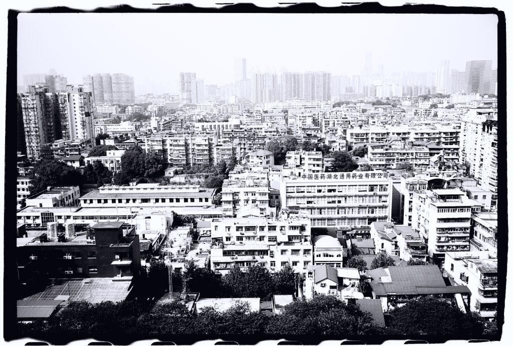 La ville de Wuhan, plein cadre