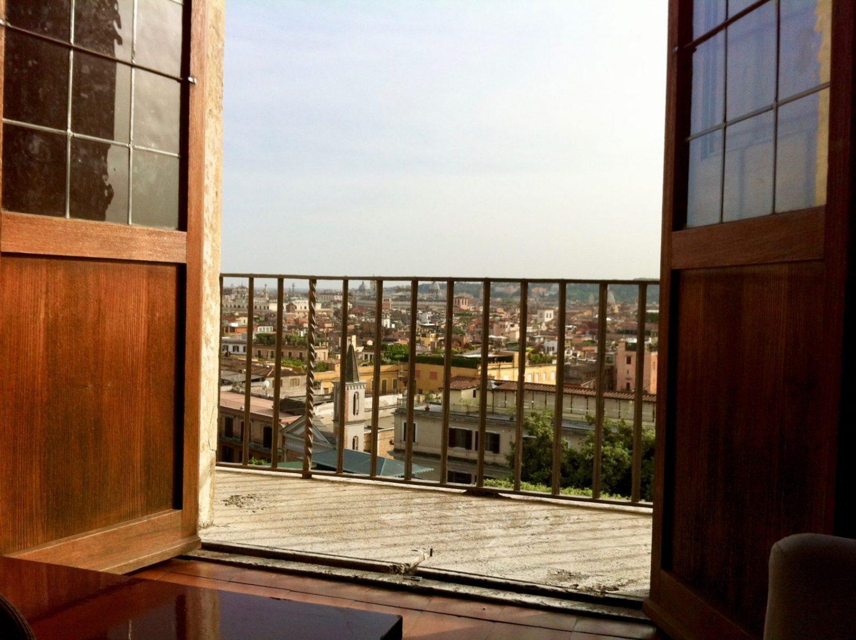 Rome depuis le balcon de la Villa de Medecis