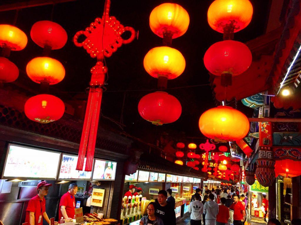 Un petit marché nocturne au cœur de Pékin