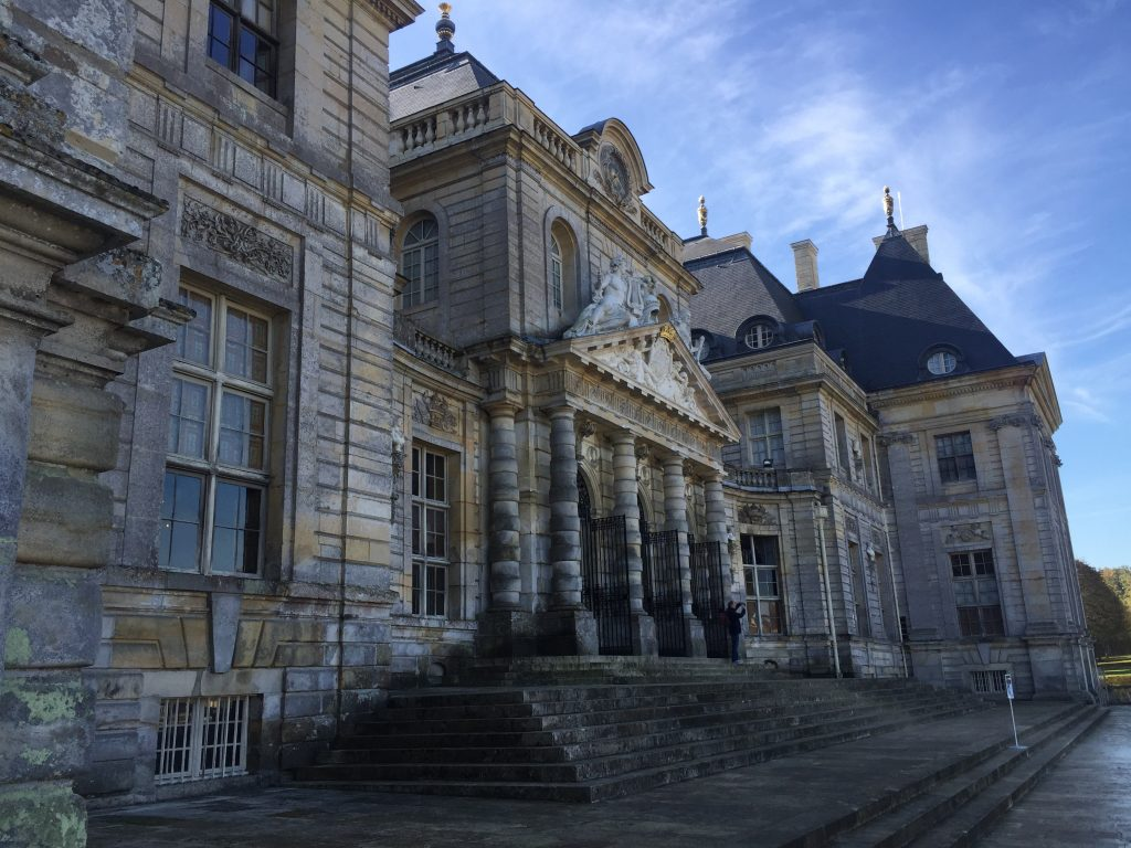 L'entrée du château de Vaux le Vicomte