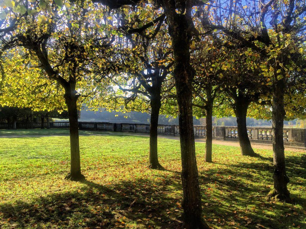 L'automne dans les jardins du château