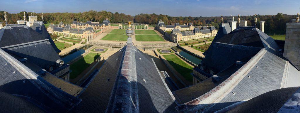 Panorama sur le domaine de Vaux le Vicomte