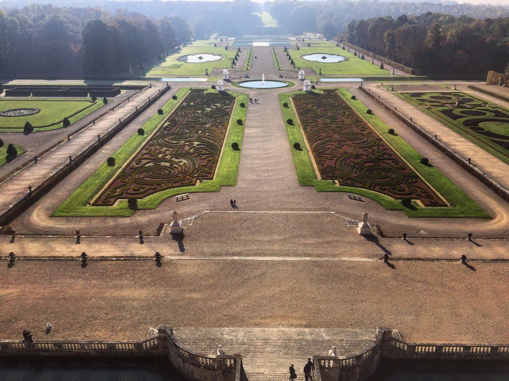 Les jardins du château vue depuis le dôme