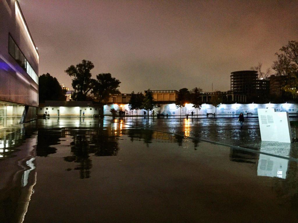 Parc Kulturi la nuit, Moscou 2016